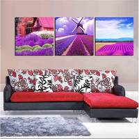 3 Pieces Unframed Wall Art Picture Gift Home Decoration Canvas Print Oil Painting Lavender Trees Starfish Cuadros Decoracion Art