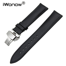 24mm Calf Genuine Leather Watchband for Sony Smartwatch 2 SW2 Suunto TRAVERSE Fossil