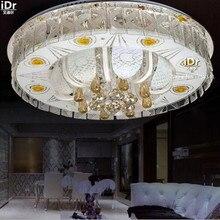 Роскошные лампы Простой и стильный гостиной спальня кристалл лампы светодиодные лампы Творческий СВЕТОДИОДНАЯ лампа Потолочные Светильники D600mm бесплатная доставка