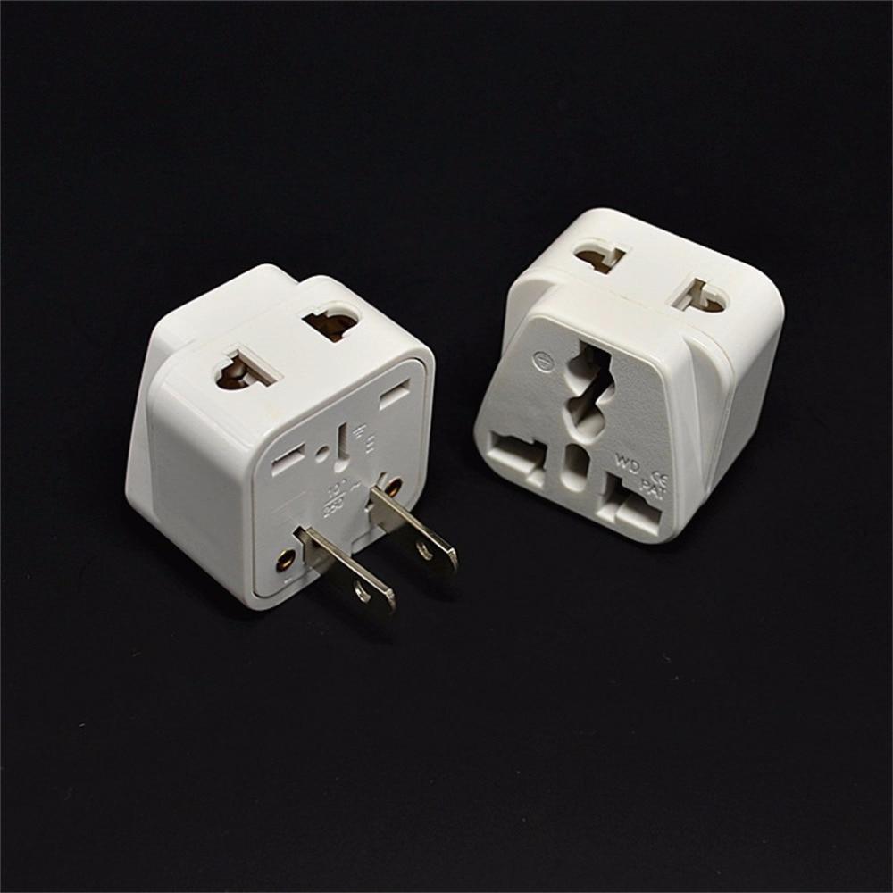 in Stock! 2 pin AC American USA Power Plug Adapter Travel Converter Australia UK USA EU Wholesale Hot New Promotion