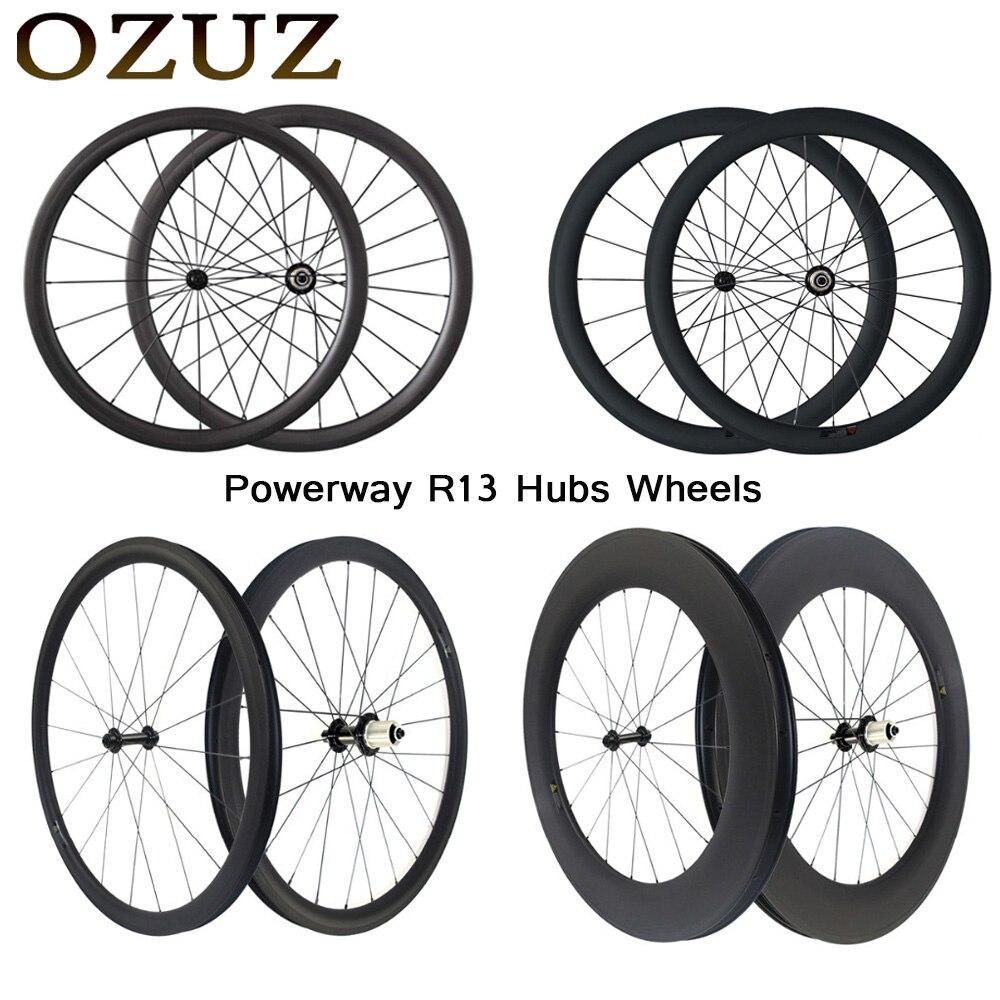 OZUZ 700C Ultra Léger 1180g Carbone Roues 24mm 38mm 50mm 60mm 88mm de Carbone Pneu tubulaire Roues Vélo De Route Vélo Roues