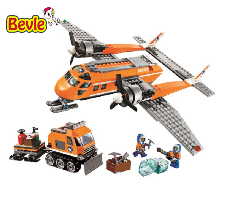 Bevle Bela 10441 Urban Arctic Series Snow Police Snow Conveyer Bricks Building Block Toys Compatible with Lepin 60064 compatible lepin city block police dog unit 60045 building bricks bela 10419 policeman toys for children 011