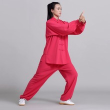 цена Unisex Chinese Kung fu Suit Tai Chi Uniform Martial Arts Performance Clothes Mens Womens Morning Exercise Suits Jackie chan онлайн в 2017 году