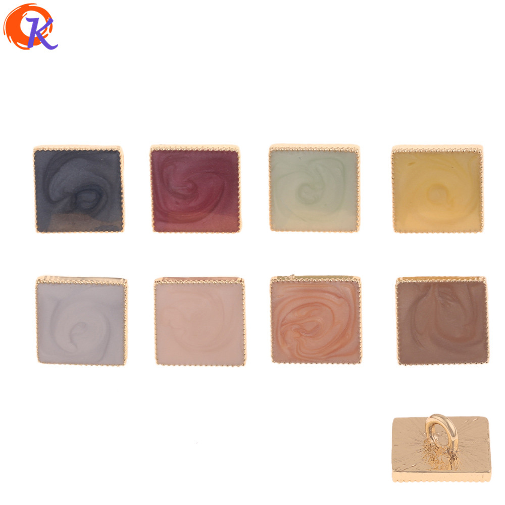 Cordial Design 50Pcs 14*14MM Hair Accessories/DIY Jewelry Making/Paint Effect/Square Shape/Hand Made/Jewelry Findings Component(China)