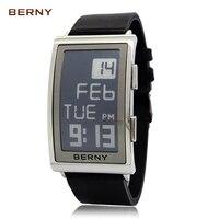 BERNY роль роскошные часы для мужчин электронные чернила reloj hombre электронные наручные часы для мужчин s relogio мужские спортивные часы для мужчин