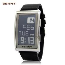 Берни Новое поступление роль роскошные часы мужские электронные чернила Reloj Hombre электронные наручные часы Мужские Ретро цифровой E-Ink e002