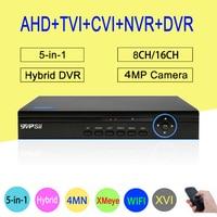 4MP 1080P 960P 720P 960H CCTV Camera Blue Panel XMeye Hi3521A 4MN 16CH 8CH 6 In