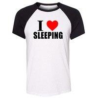 ฉันรักนอนฮิปฮอปเสื้อยืดผู้ชายผู้หญิง