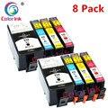 ColorInk 8PK Tinte Patrone für HP 934XL 935XL Officejet pro 6230 6830 6835 6812 6815 6820 drucker tinte-in Tintenpatronen aus Computer und Büro bei