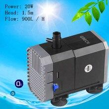 цена на Aquarium fish tank submersible pump power 20W Voltage 220V / 240V / 50Hz 1.5m lift flow 900L / H