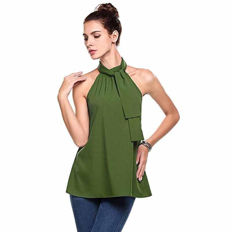 Летние сексуальные женские блузки, большие размеры, OL, для пляжа, путешествий, повседневные, Boho, белые топы, простые, женские, модные, зеленые рубашки, хит 2019