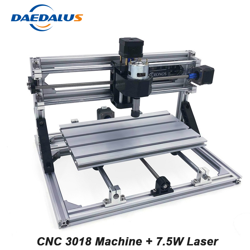 Mini CNC 3018 Laser Engraving Machine 7500mw Laser Head ER11 PCB Milling Wood Router Wood Carving DIY Machine With GRBL Control disassembled pack mini cnc 3018 pro 500mw laser cnc engraving wood carving machine mini cnc router with grbl control l10010