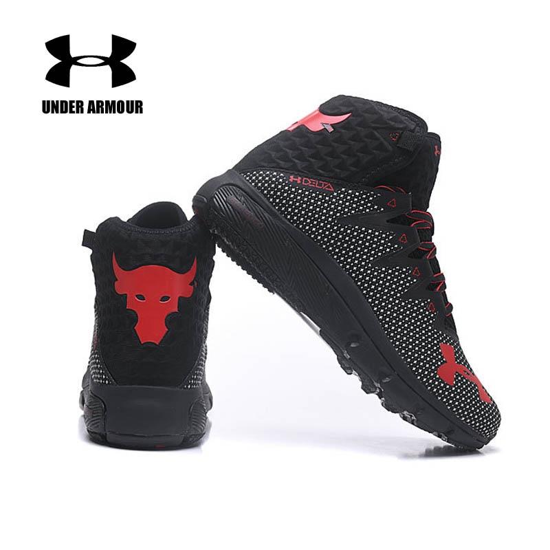 Under Armour для мужчин Project Rock Delta баскетбольные кеды тренировочные ботинки с амортизацией Нескользящие Кроссовки Zapatillas hombre deportiva US7-11