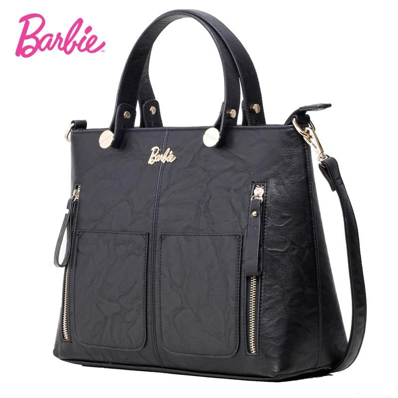 2018 nouveau Barbie femmes sac à bandoulière noir grande capacité sac à main pour filles moderne sacs bandoulière sac femme trapèze