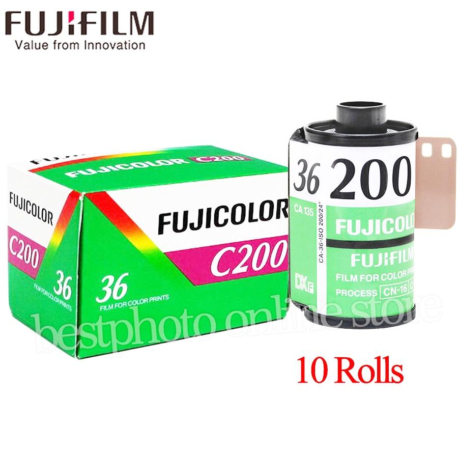 10 Roll lot Fujifilm Fujicolor C200 Color 35mm Film 36 Exposure for 135 Format Camera Lomo