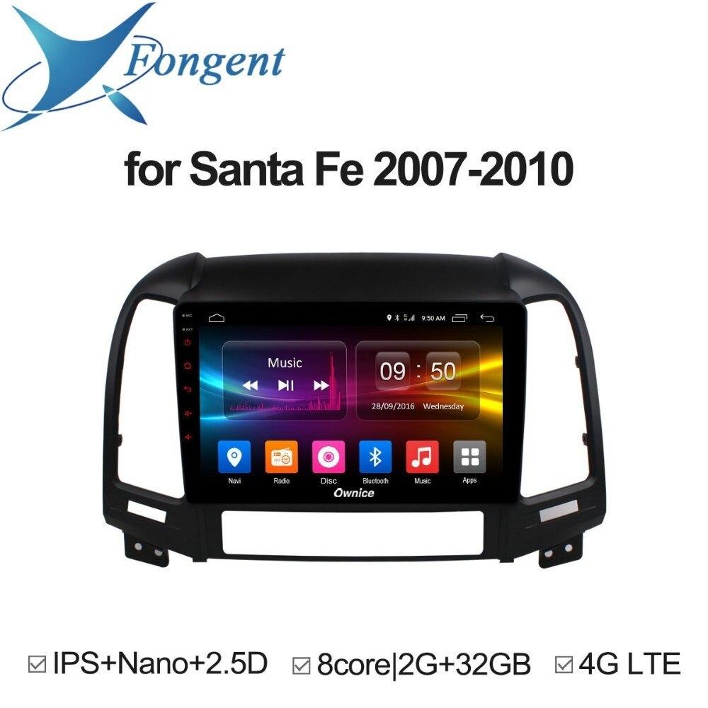 for Hyundai Santa Fe 2007 2008 2009 2010 Car Intelligent System Multimedia DVD Radio Player GPS