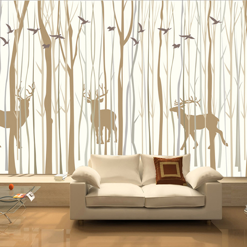 Large mural custom wallpaper European Retro nostalgic forest elk TV Background decoration painting Living Room Bedroom Wallpaper large yellow marble texture design wallpaper mural painting living room bedroom wallpaper tv backdrop stereoscopic wallpaper