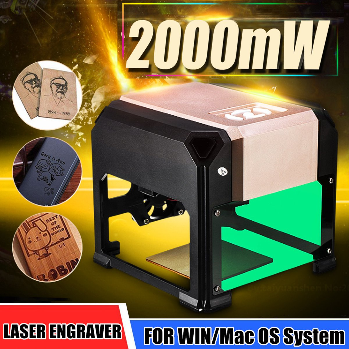New 2000mW Upgraded USB Laser Engraver Printer Cutter Carver DIY Logo Marking Engraving Machine FOR WIN/Mac OS SystemNew 2000mW Upgraded USB Laser Engraver Printer Cutter Carver DIY Logo Marking Engraving Machine FOR WIN/Mac OS System