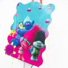 1pc/set Cartoon Trolls Folding Pinata Kids Birthday Party Game Decoration Funny Boys Supplies
