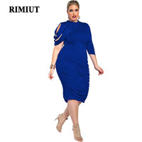 2b104dbce5 Rimiut 2019 Women Dress Irregular Sheath Summer Dress Fashion Casual  Designer Sexy Plus Size Dress For