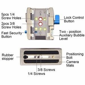 Image 4 - PULUZ Quick Release Clamp Adapter + Quick Release Plaat voor DSLR SLR Camera