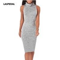 LASPERAL 2017 Knitted Dress Retro Turtleneck Bodycon Sweater Dress Elegant Women Sexy Warm Partywear Vestidos Plus