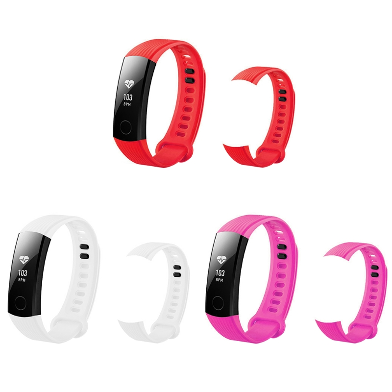 Replacement Silicone Adjustable Wrist Watch Band For Huawei Honor 3 Bracelet