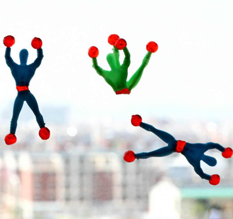 Новая новинка, мягкая игрушка карабкающийся, на липучках Человек-паук, цельная фигурка, забавные гаджеты Человек-паук из ПВХ для детских игрушек