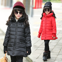 Children's clothing kids winter cotton-padded jacket 2016 down cotton wadded jacket thickening girls thicken Hooded coat
