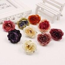 20 pcs 4.5 cm Mini Pink Flower Artificial Cloth For Wedding Party Home Decoration Shoes Hats Silk Accessor