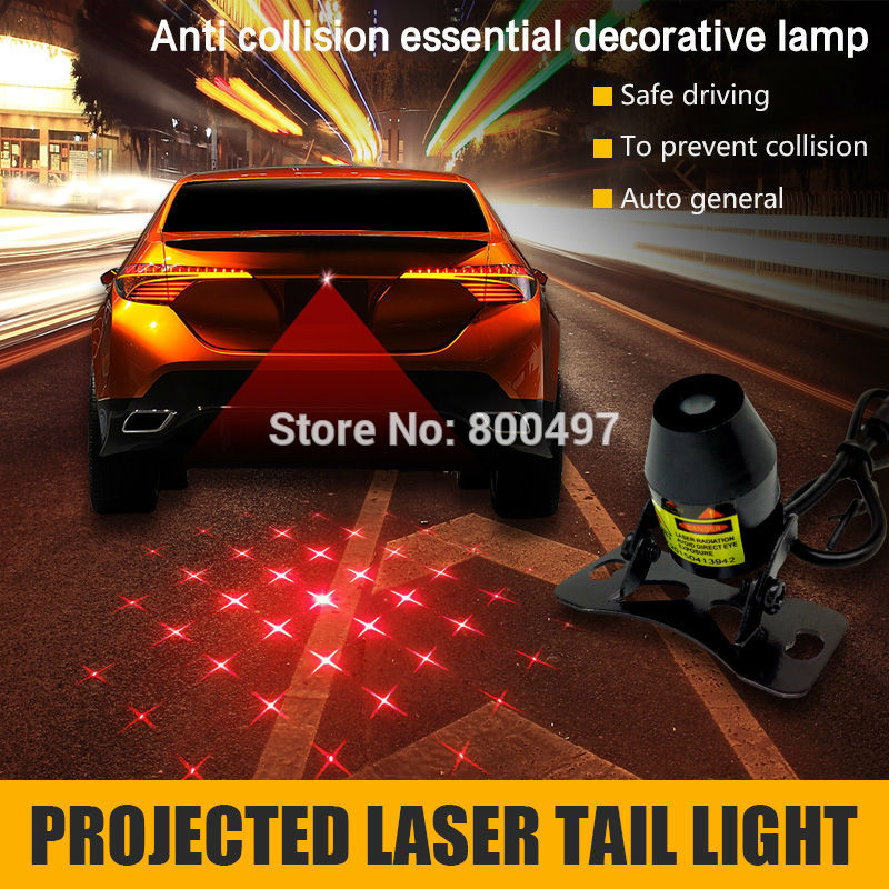 Automobile Car Laser Fog Light Rear Anti-Collision Driving Safety Signal Warning Lamp Braking Parking Warning Light for chevy chevrolet lacetti matiz automotive anti rear fog light vehicle collision warning safety laser fog lights