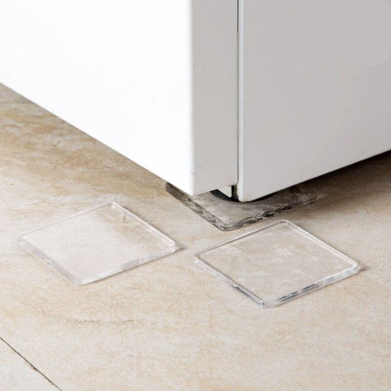 4pcs Washing Machine Anti-vibration Silencer Protection Pads Furniture Mat PU Rubber Furniture Chair Feet Flooring Non-slip Mats