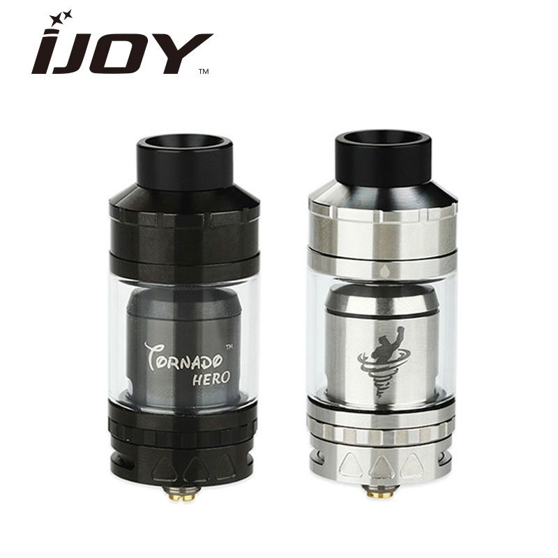 Original IJOY Tornado Hero RTA & Sub Ohm Tank 5.2ml Kennedy-style airflow w/ TRC-coil 0.3ohm Huge Vapor Atomizer Rebuildable original joyetech procore remix tank 2ml 4 5ml rta rda sub ohm atomizer support dual single coil electronic cigarette tank