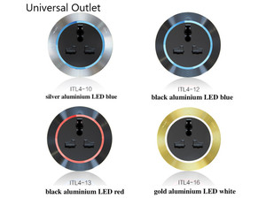 Image 5 - Custom Made Electrical Orbital Socket Power Track Embeded Wall Mounted 750 x 80mm Board 4 Adapters Moverable UK Universal Outlet