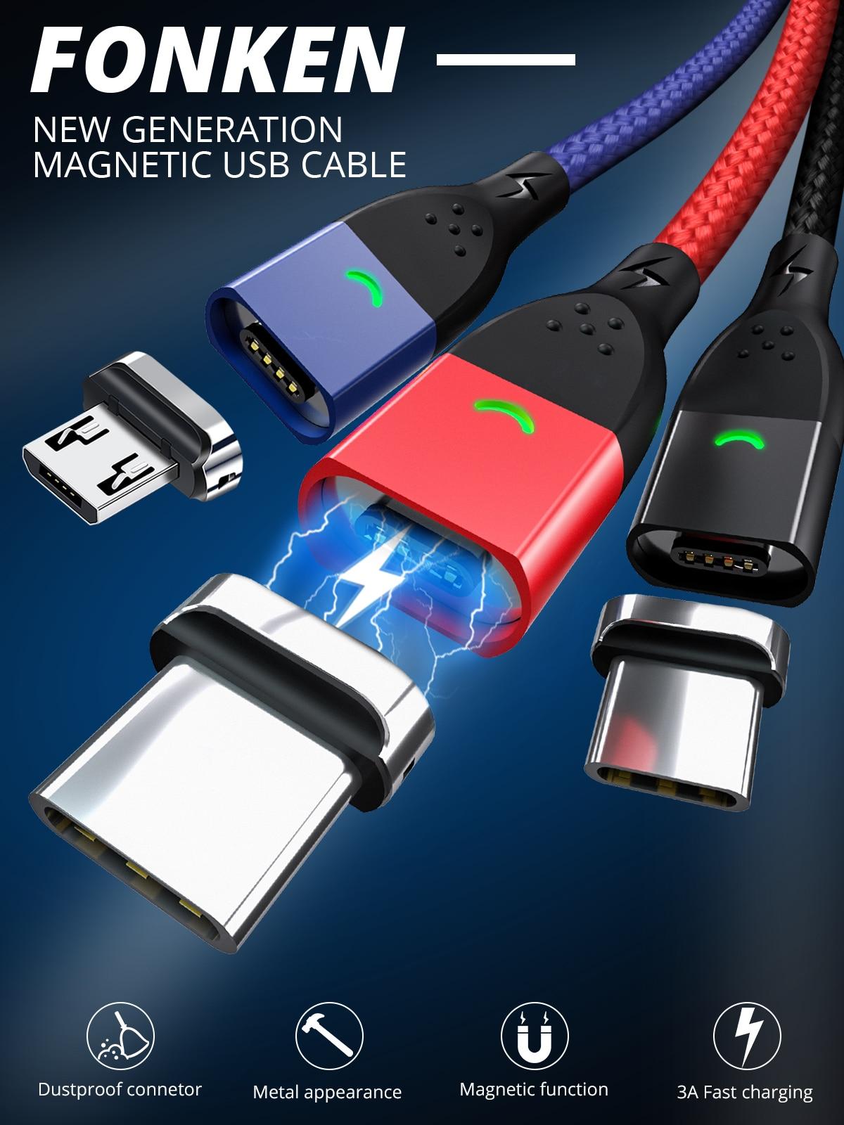 магнитный USB кабель Fonken