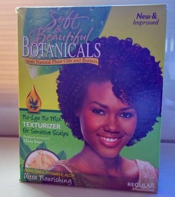 Soft & Beautiful Botanicals Texturizer Regular 2 application