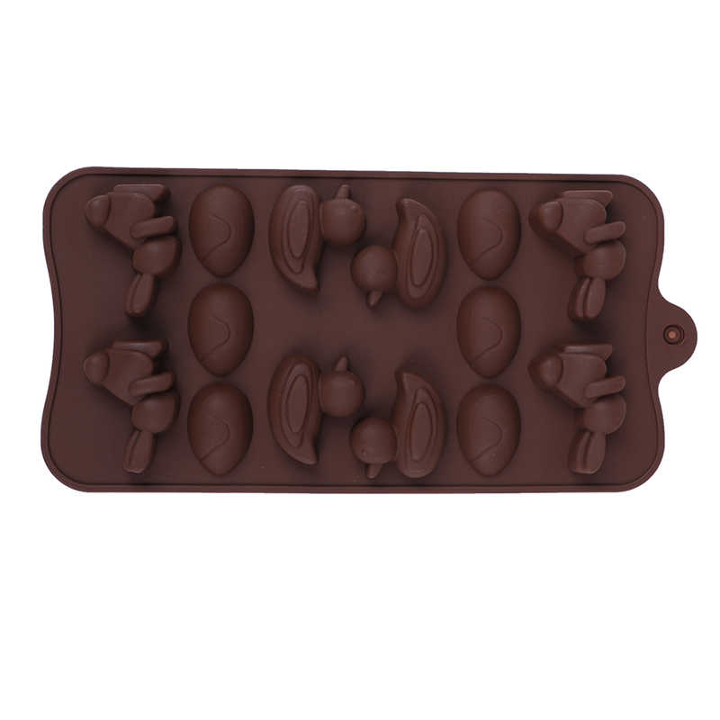 14 hohlraum Cartoon Ente DIY Eis Tablett Schokolade Gebäck Brot Werkzeuge Kaninchen Ei Silikon Form Kuchen Backen Werkzeuge