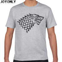 Joy Only Game Of Thrones Wolf T Shirts Men House Stark Mens Shirt A Song Of