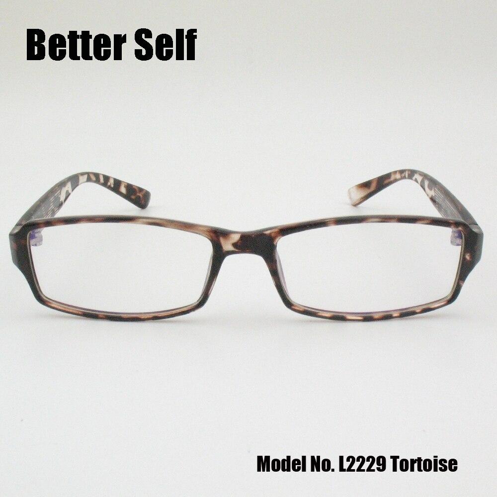 Better Self L2229 Optics Eyewear Rectangle Lazy Glasses PC Retro ...