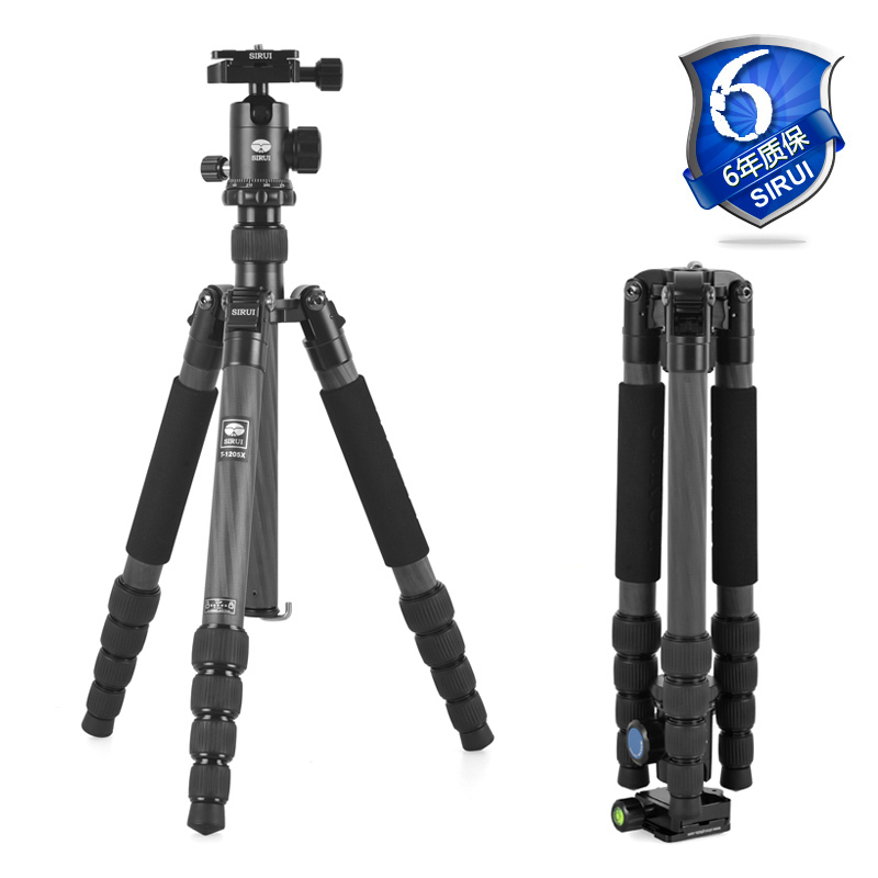 Sirui DHL Camera Tripod+Ball Head Kit 2in1 Carbon Tripod For SLR Cameras Light Weight 2.1 KG Travel Bag Handheld T-1205X+G10KX штатив sirui t 005kx c 10s