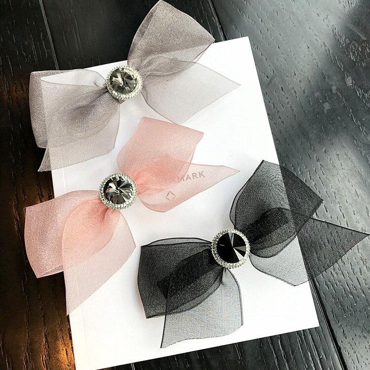 Пряжа ткачество ручной работы цветок кристалл аксессуары для волос для девочек волосы луки обода шпилька Заколки для волос для Для женщин з...