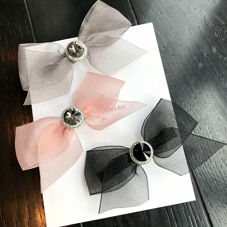 Yarn Weaving Handmade Flower Crystal Hair Accessories For Girls Hair Bows Rim Hairpin Hair Clips For Women Barrette -4