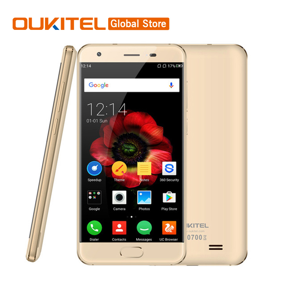 Original Oukitel K4000 Plus 5.0″HD Quad Core 2GB RAM 16GB ROM MTK6737 Android 6.0 8.0MP 1280 x 720 4100mAh Fingerprint CellPhone