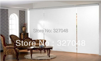 FREE SHIPPING Popular room darkening shades/double-layer roller blinds/ window curtain/shangri-La blinds