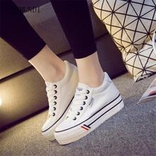 ARSMUNDI Spring Autumn Ladies Classy Platform Sneaker British Style Women High Quality Fashion Canvas Shoes M144