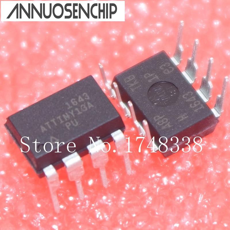 10PCS ATTINY13A-PU ATTINY13A DIP8 MCU AVR 1K 20MHZ NEW free shipping 10pcs 1203p100 dip8