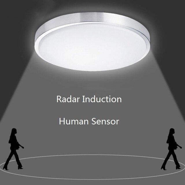 レーダー誘導人間センサーサウンドコントロール Led シーリングライト Lamparas デ手帖浴室階段バルコニー廊下子供天井ランプ