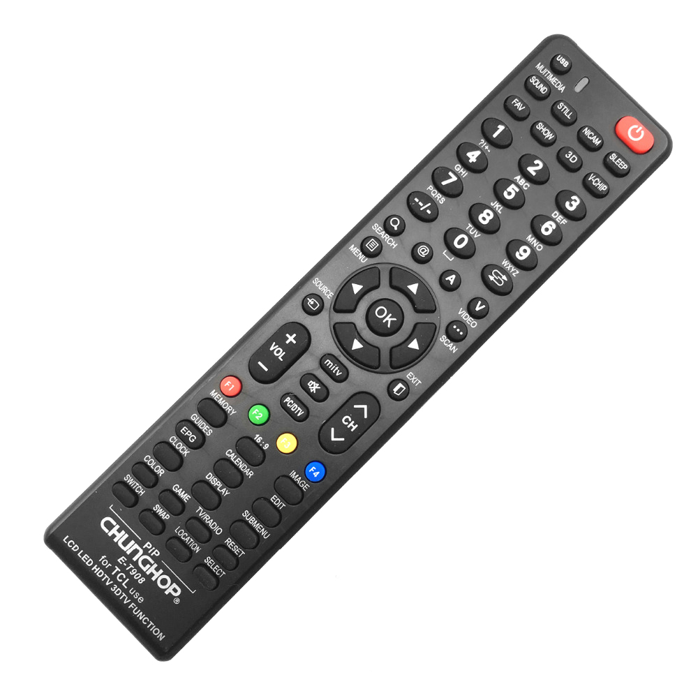 Consumer Electronics Remote Controls Aspiring Chunghop Remote Control E-t908 For Tcl Use Lcd Led Hdtv 3d Smart Tv Function Remote Controller