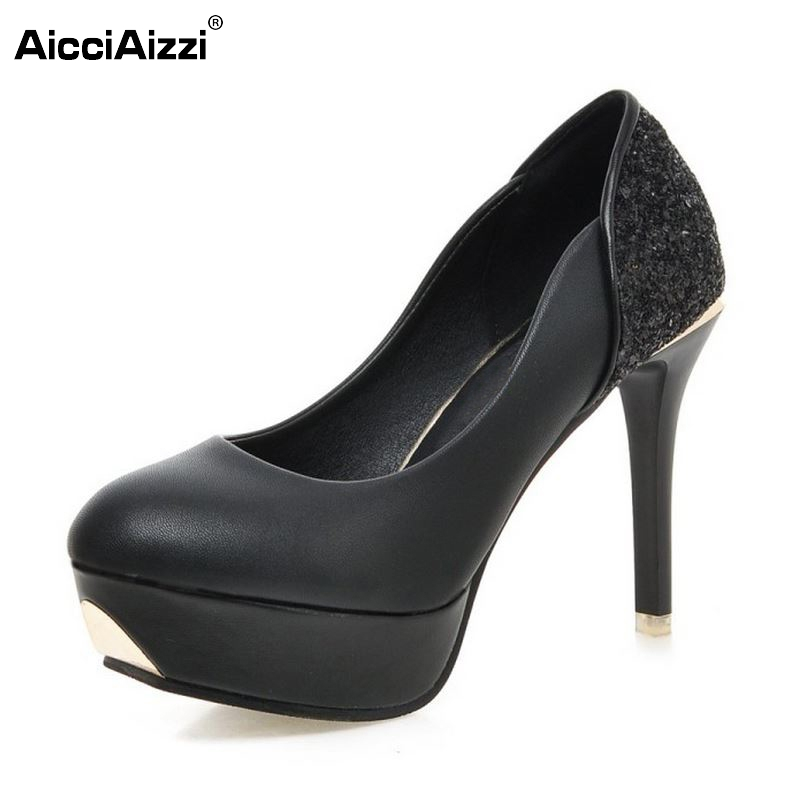 Women Platform High Heel Shoes Fashion Sexy Thin Heels Pumps Ladies Party Brand Wedding Shoes Heeled Footwear Size 35-39 cicime women s heels thin heel spikes heels solid slip on wedding fashion leisure casual party dressing high heel platform pumps
