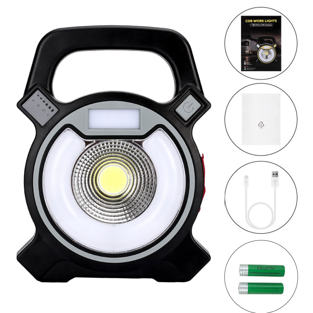 COB LED outdoor super bright Flashlight portable Working lamp 18650 battery USB charging outdoor emergency camping lamp LanternCOB LED outdoor super bright Flashlight portable Working lamp 18650 battery USB charging outdoor emergency camping lamp Lantern